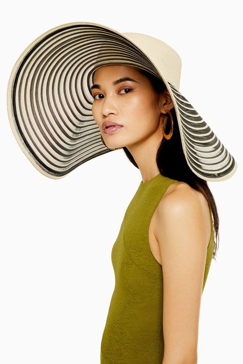Monochrome oversized straw hat topshop