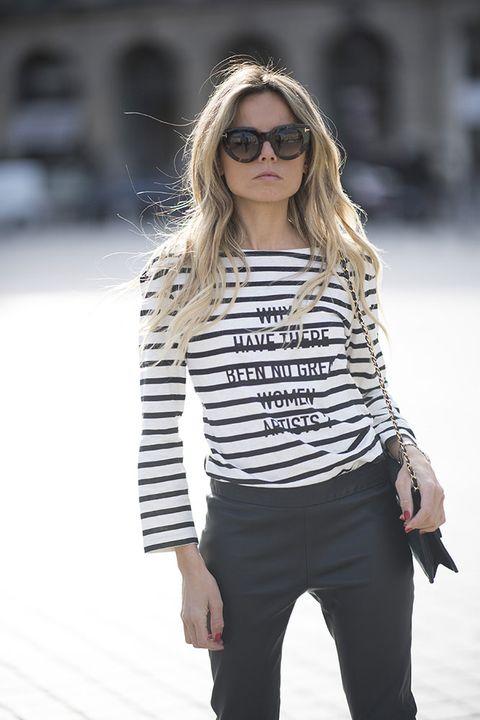 Eyewear, White, Clothing, Street fashion, Fashion, Black, Shoulder, Sunglasses, Fashion model, Beauty,