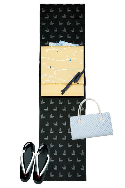 大島紬,紬,着物,ダークカラー,スタイリッシュ,美しいキモノ