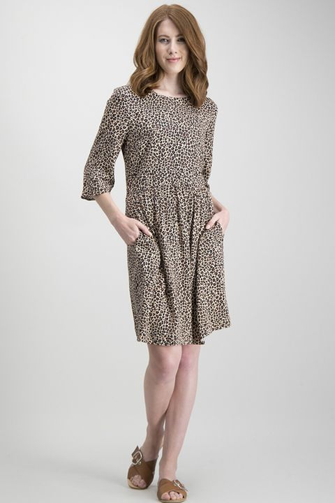 Multicoloured Leopard Print Tea Dress