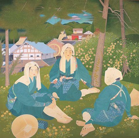 京都市京セラ美術館 京都の美術250年の夢 土田麦僊 大原女