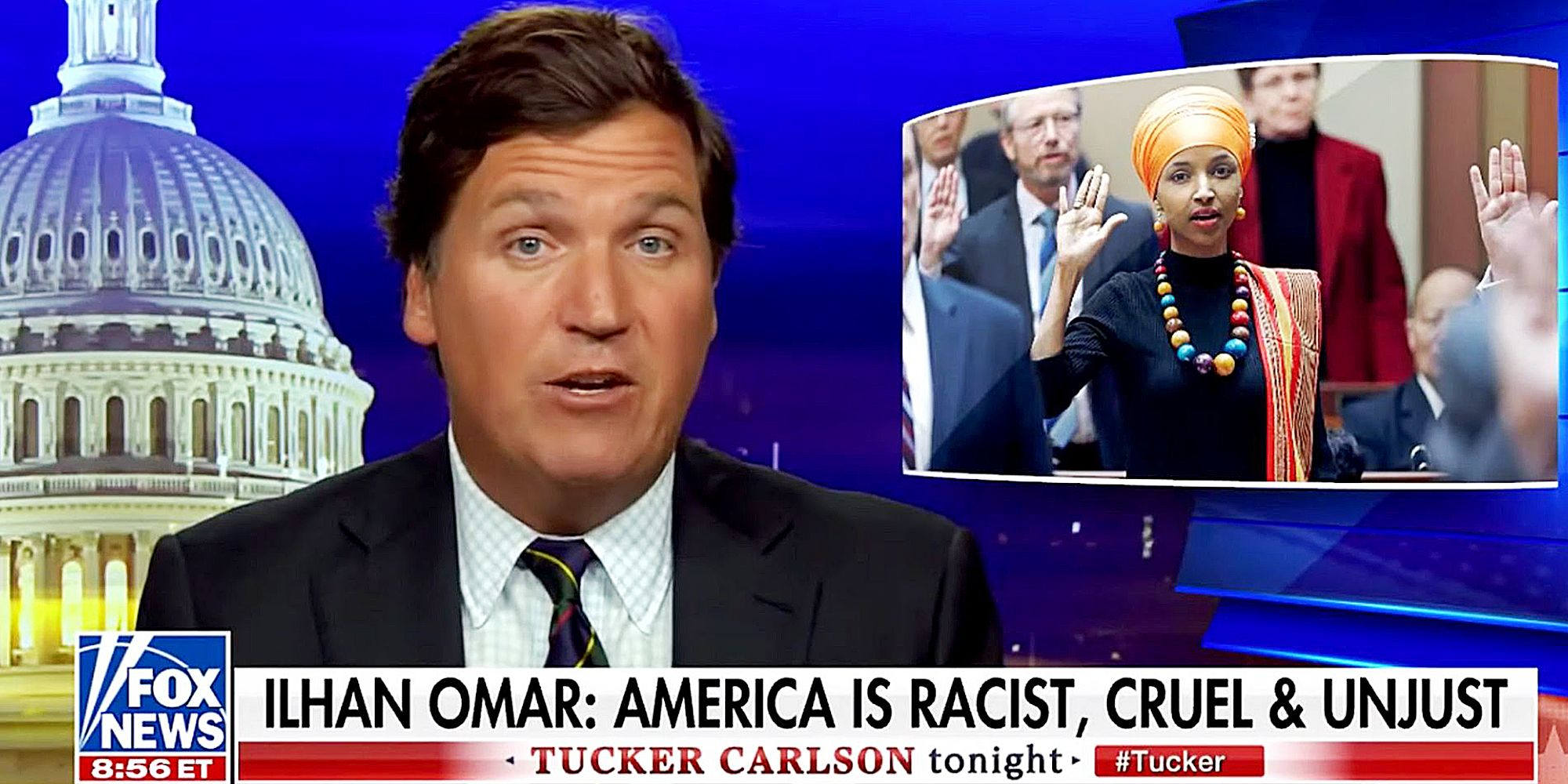 Tucker Carlson's Disgusting Rant Against Ilhan Omar Is About One Thing