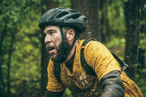 Facial hair, People in nature, Beard, Forest, Helmet, Bicycle helmet, Old-growth forest, Glove, Moustache, Jungle,