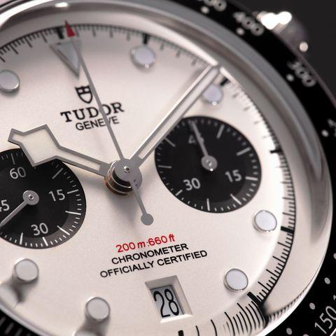 cadran blanc de la montre