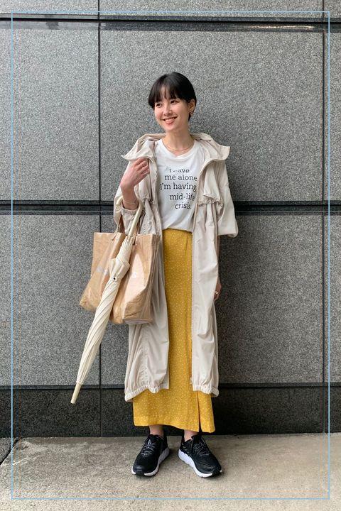 Clothing, Yellow, Snapshot, Outerwear, Fashion, Street fashion, Footwear, Costume, Shoe, Trench coat,