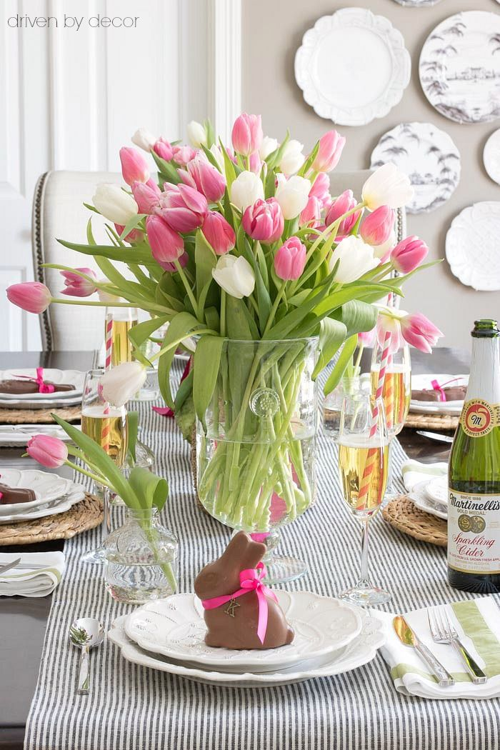 bunny easter table place cards