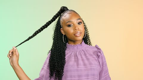 beyonce inspired crochet ponytail