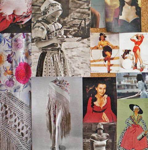 Human, Art, Fashion, Vintage clothing, Creative arts, Costume design, Collage, Costume, Natural material, Illustration,