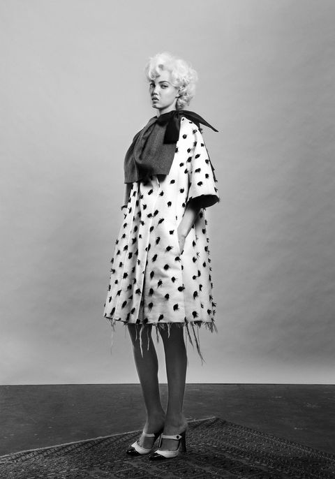 Standing, White, Monochrome, Style, Monochrome photography, Fashion, Black-and-white, One-piece garment, Vintage clothing, Costume design,