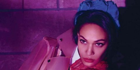 Lip, Purple, Magenta, Violet, Eyelash, Beauty, Cool, Model, Fashion model, Makeover,