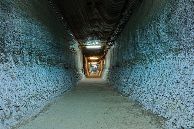 tunnel in salt mine