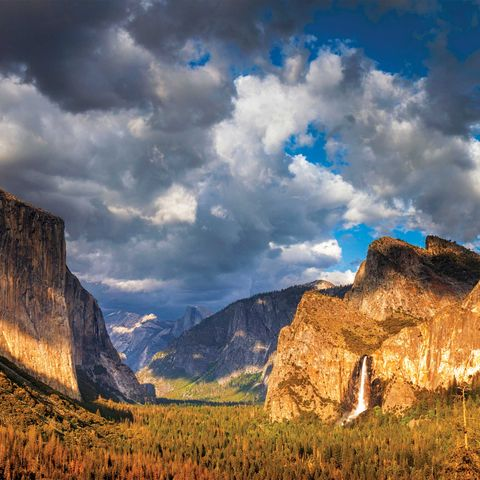 tunnel view at yosemite valley