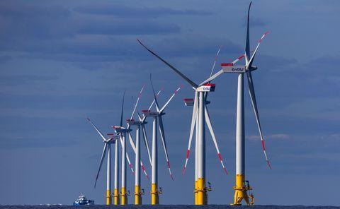 Wind turbine, Windmill, Wind farm, Wind, Public utility, Machine, Turbine,