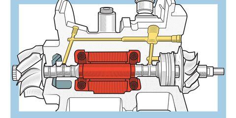 Motor vehicle, Auto part, Engine, Automotive engine part, Technical drawing, Parallel, Vehicle, Pump, Automotive super charger part, Transmission part,