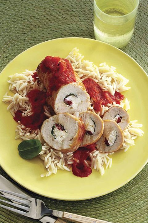 turkey cheese roll-ups with red pepper sauce