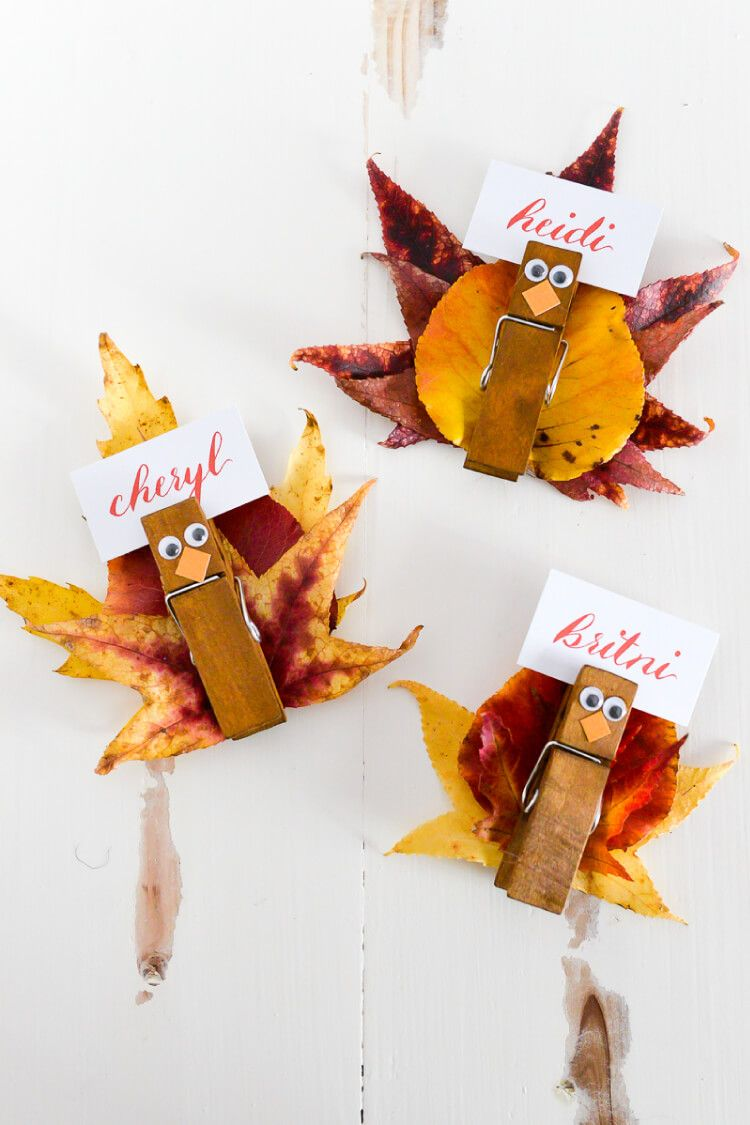 25 Diy Thanksgiving Place Cards Easy Name Card Ideas For Thanksgiving