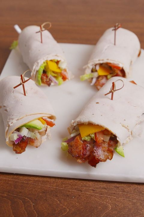 turkey sandwich turkey club roll-up