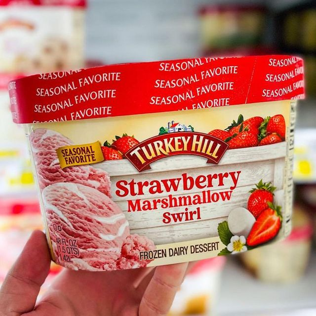 turkey hill strawberry marshmallow swirl frozen dairy dessert