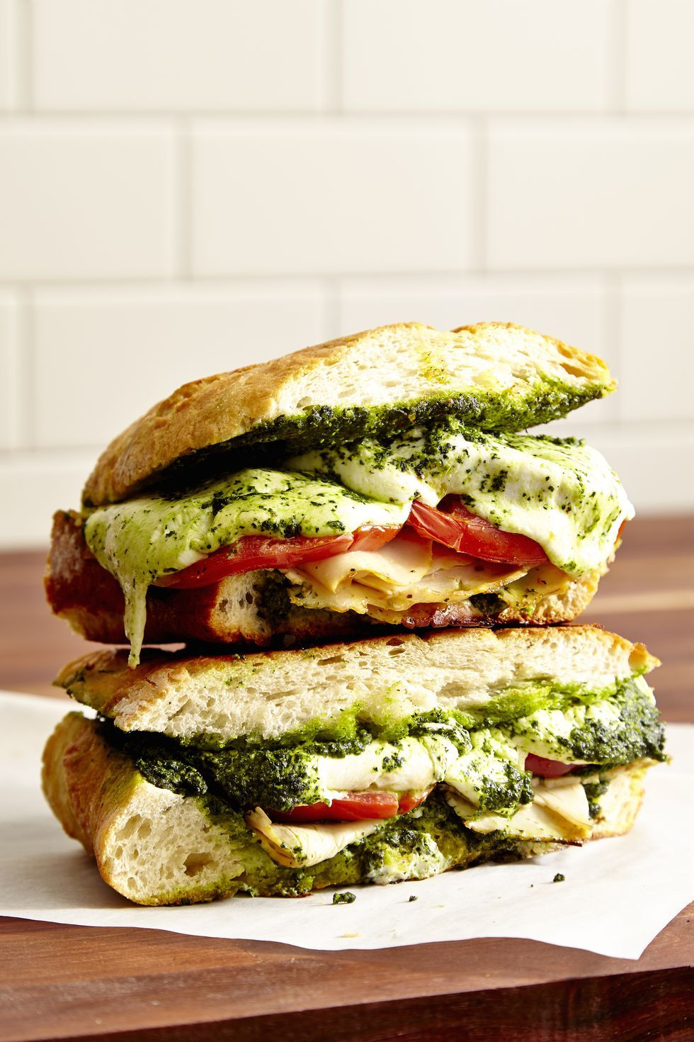 turkey sandwich turkey, kale and mozzarella panini
