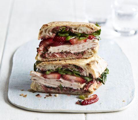 turkey panini with strawberry pesto
