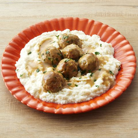 turkey swedish meatballs with cauliflower mash