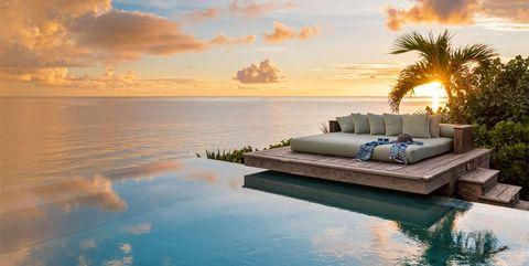 Sky, Nature, Natural landscape, Horizon, Property, Sea, Vacation, Sunset, Morning, Tropics,
