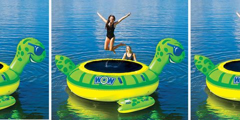 Inflatable, Product, Games, Green, Water, Recreation, Fun, Aqua, Leisure, Vacation,