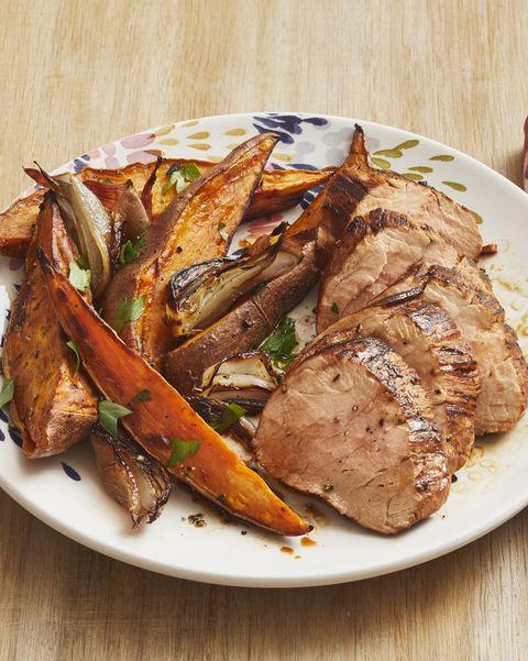 tuscan pork sheet pan supper