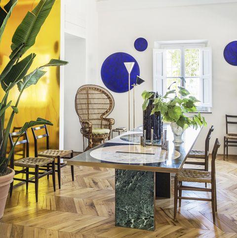 samuele failli tuscany colourful home dining