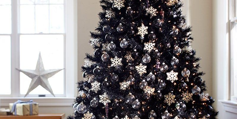 Black Christmas Trees Are The New Holiday Decor Trend For