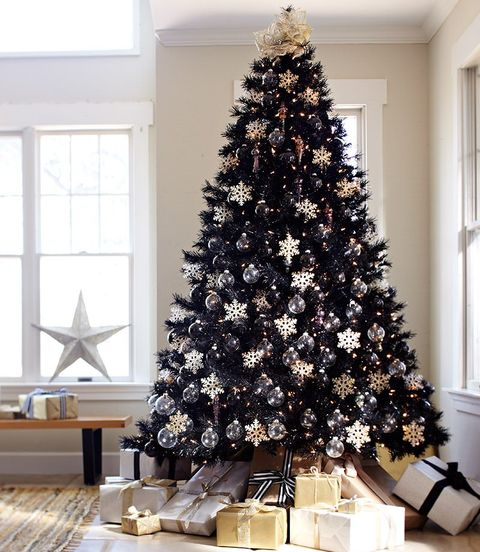 Why Christmas Trees Arent Perfect.Black Christmas Trees Are The Perfect Holiday Trend For