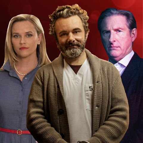 photoshop comp including reese witherspoon in little fires everywhere, michael sheen in prodigal son and adrian dunbar in blood