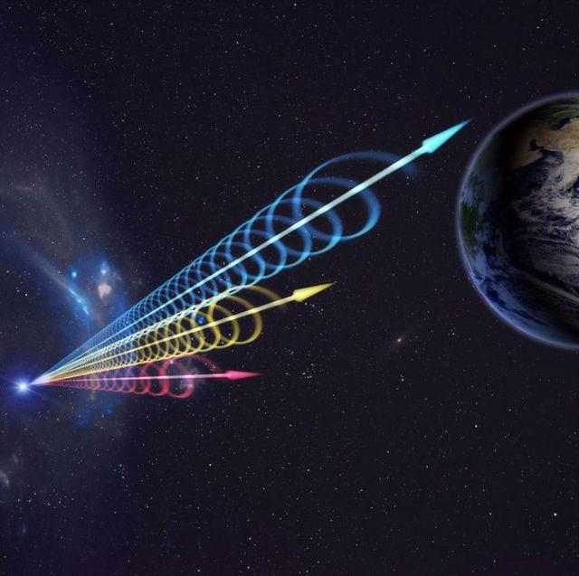 fast radio burst spirals toward earth