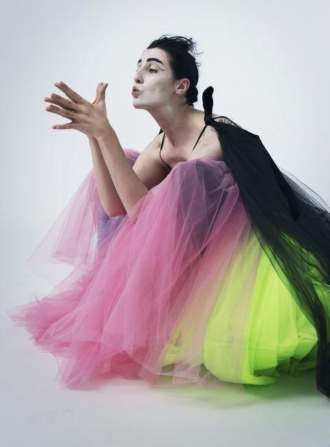 Pink, Clothing, Shoulder, Beauty, Ballet tutu, Dancer, Costume, Dress, Fashion design, Photography,