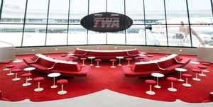 Hotel TWA de Eero Saarinen en el aeropuerto JFK Nueva York