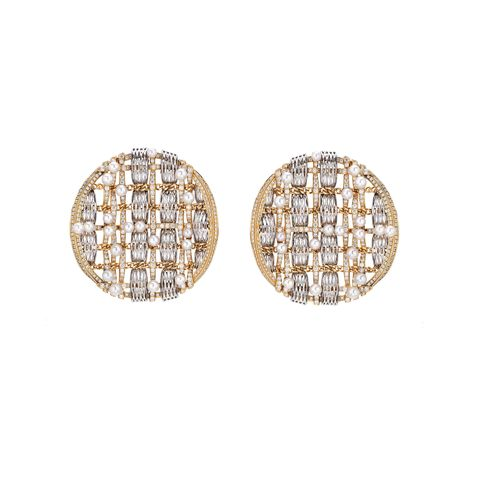 Earrings, Jewellery, Fashion accessory, Diamond, Gemstone, Yellow, Body jewelry, Metal, Beige, Circle,