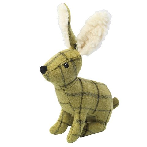 House of Paws Plush Tweed Sitting Hare dog toy photo