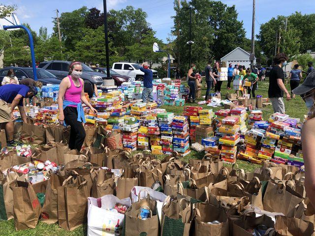 sanford middle school food drive