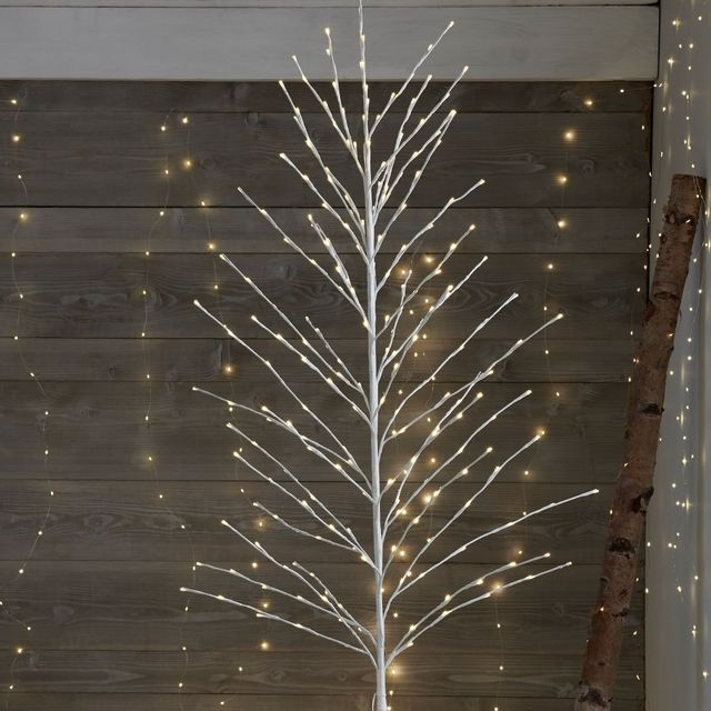 Best Christmas Trees.120cm Frosted White Flower Multi Action Led Blossom Tree With Remote Control