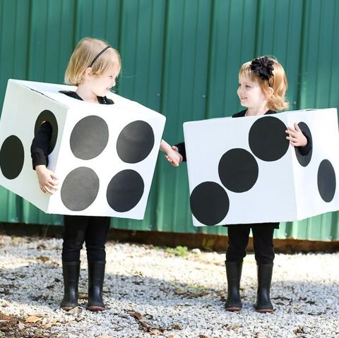 twin costumes pair of dice