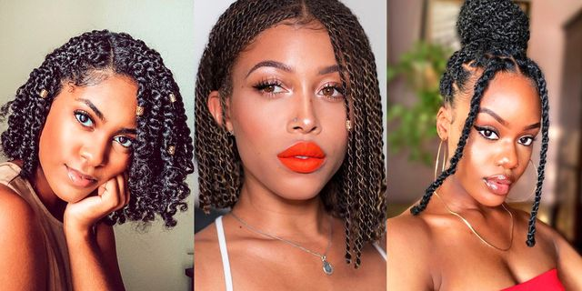 15 Twists Hairstyles To Try In 2020 Two Strand Twist Ideas