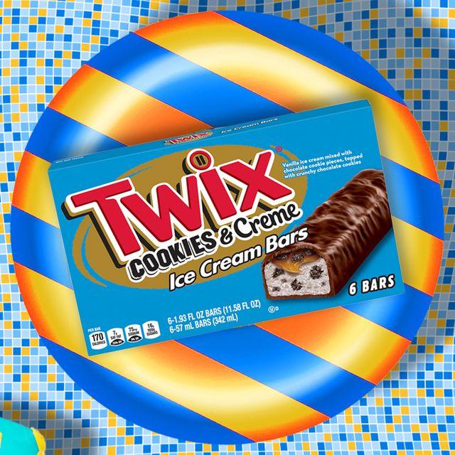 twix cookies  creme ice cream bars