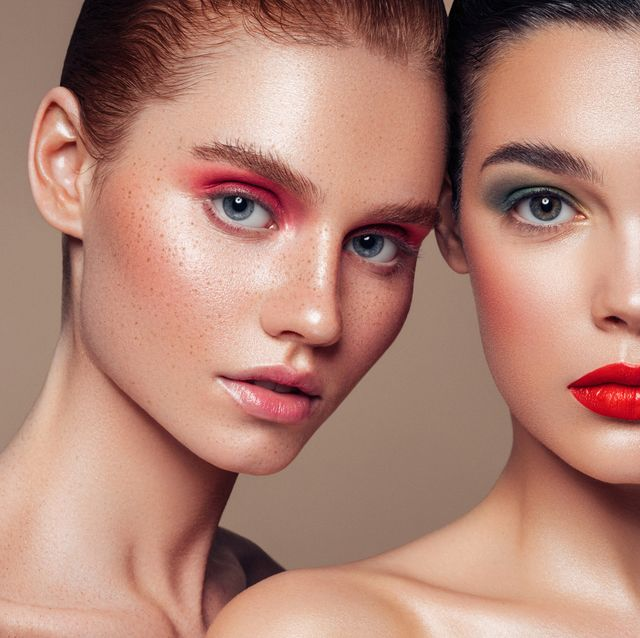two beautiful girls with makeup