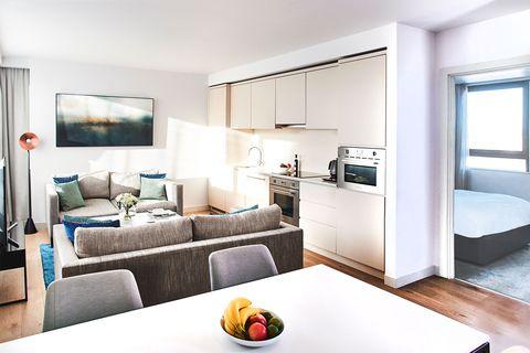 Furniture, Room, Living room, Interior design, Property, Building, House, Suite, Bedroom, Real estate,