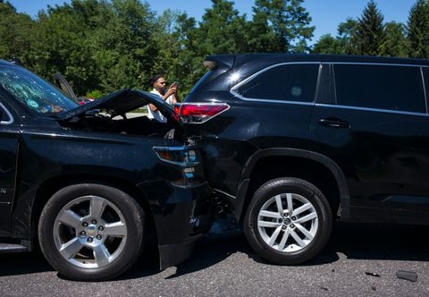 Traffic Wreck On New York State Thruway