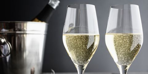 Two glasses of Champagner and Cooler