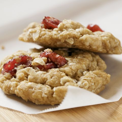 two healthy oatmeal cranberry cookies xxl