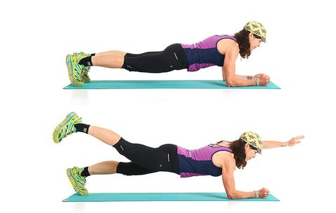 A two point plank.