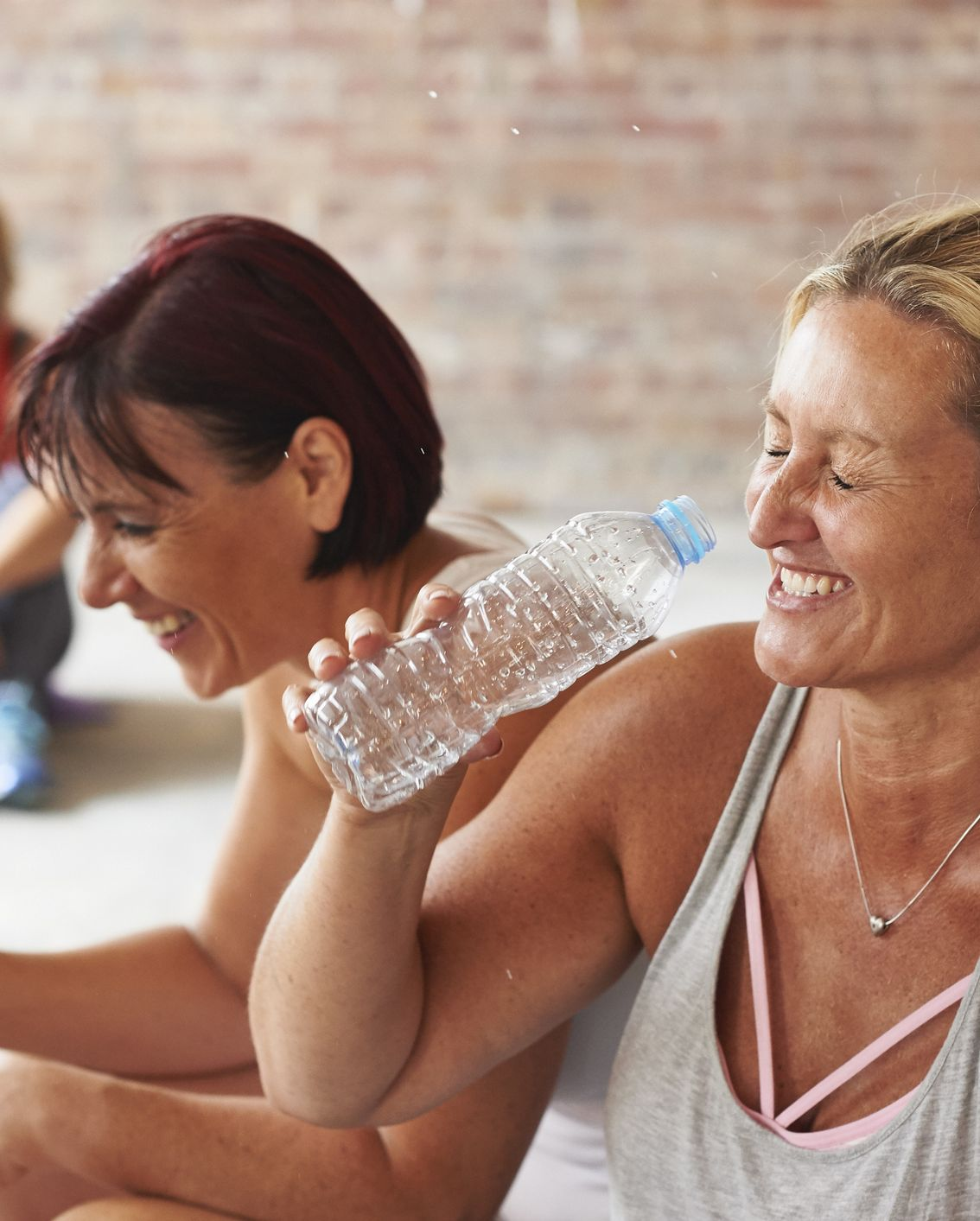 Try not to talk during a workout class. People pay big bucks to take motivating classes, and instructors work hard to cultivate a fun, enjoyable experience.