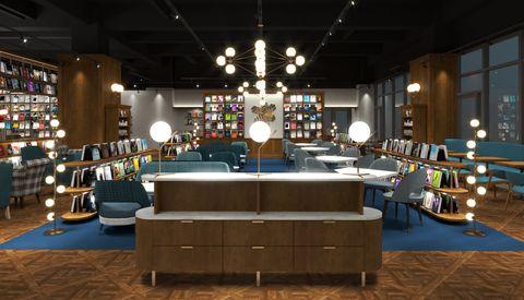 蔦屋書店tsutaya bookstore松山店開幕預備!海外首間共享型態、380坪空間、結合書香與咖啡廳